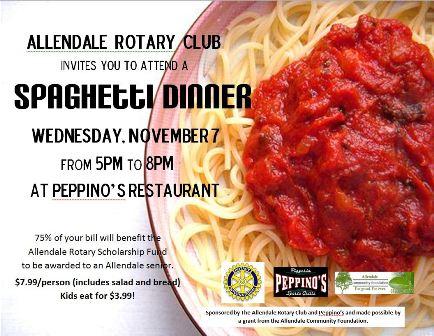 Rotary Spaghetti Fundraiser, Allendale Public Schools