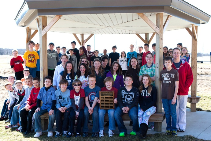 photo of the Allendale Middle School Marathon Club
