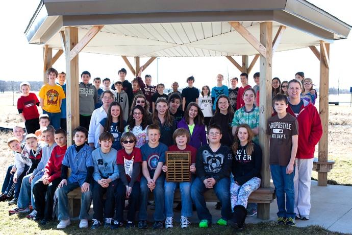 photo of the Allendale Middle School Marathon Club
