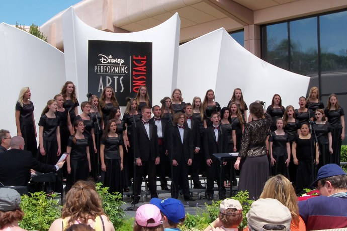 Allendale High School Choir performing in Disney World