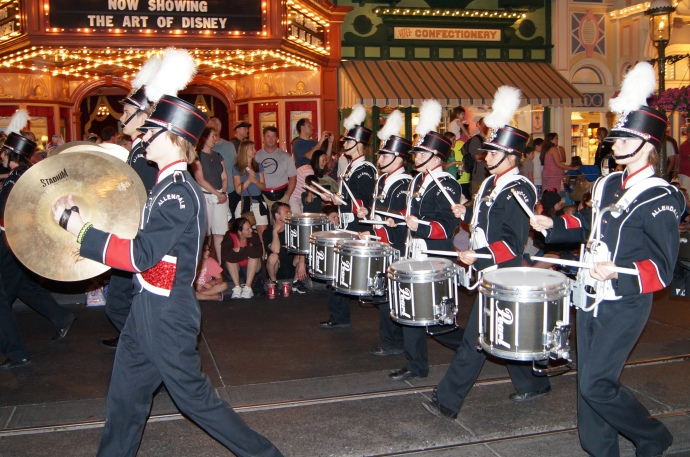 Allendale High School band performing in Disney World