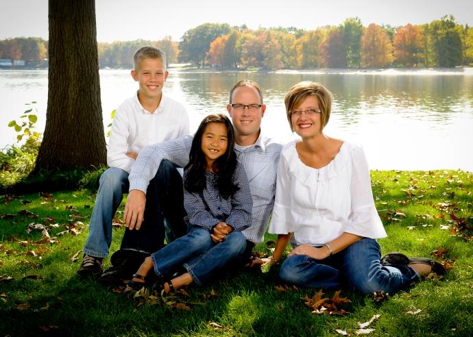 photo of the Hinken Family, Allendale Public Schools