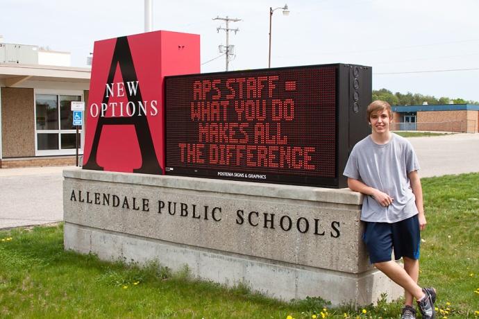 James Troost, Allendale Public Schools, APS, New Options High School