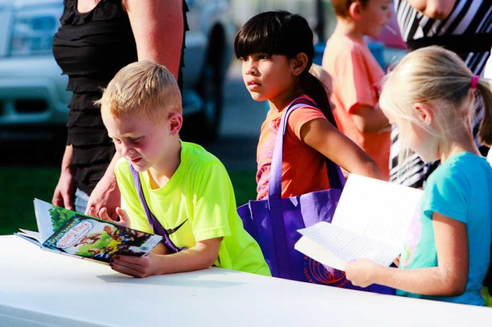 books, signups, allendale back to school fair