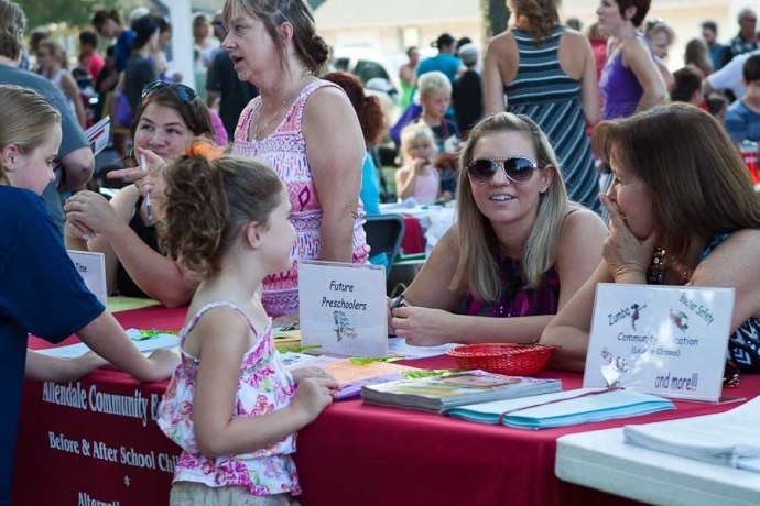 signups, allendale back to school fair