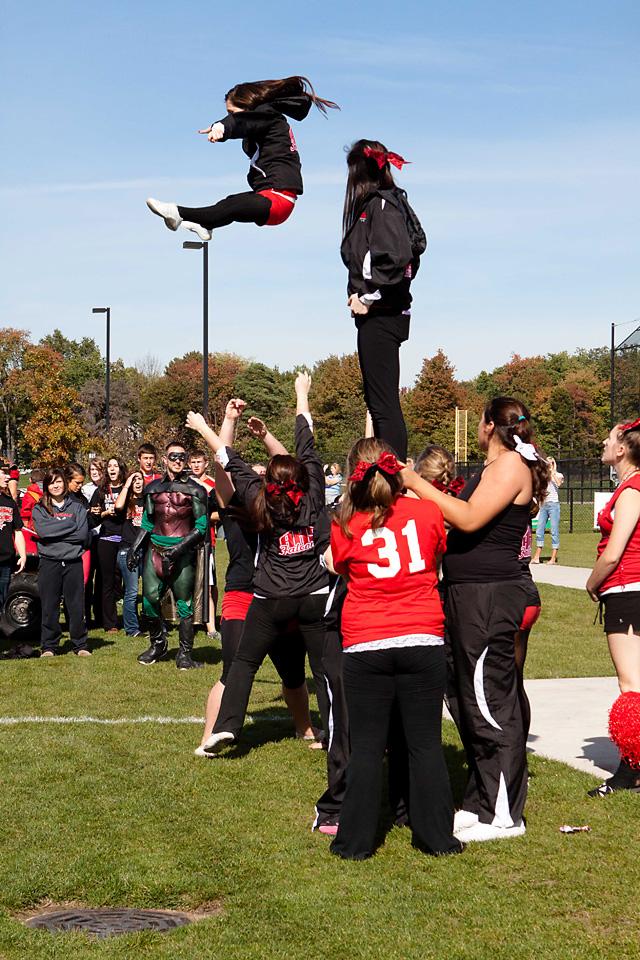 cheer, Allendale Public Schools, Allendale High School, APS, Homecoming