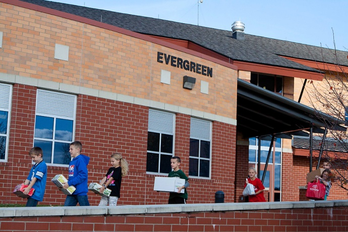 Allendale Public School, Love Inc., Springview Elementary School, Evergreen Elementary School, Thanksgiving Food Drive