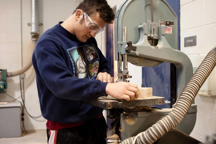 Mr. Vizithum, Allendale Public Schools, Woodworking