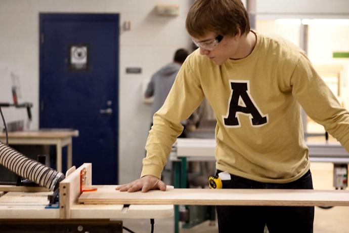 Allendale Public Schools, Falcons, Woodshop Class