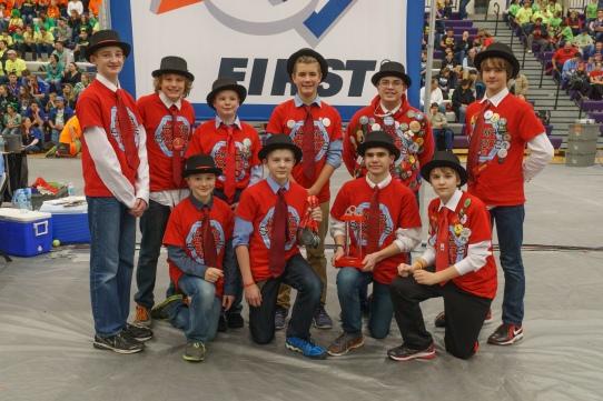 Championship Winning Alliance - 7023, HexaSonics, Allendale Middle School, Allendale