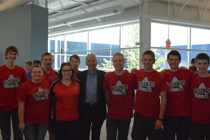 Robotics team with Governor Snyder